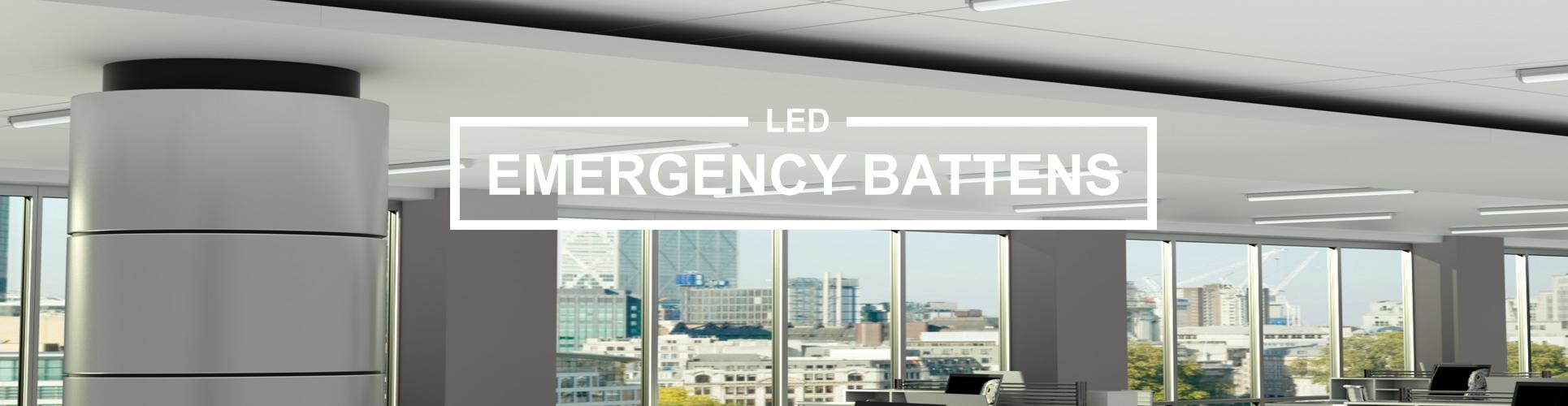 Emergency batten lights