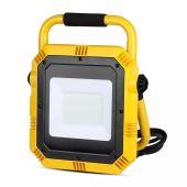LED Work Floodlight Portable 50W 4000lms Samsung Chip BS Plug 6400K Plug & Play