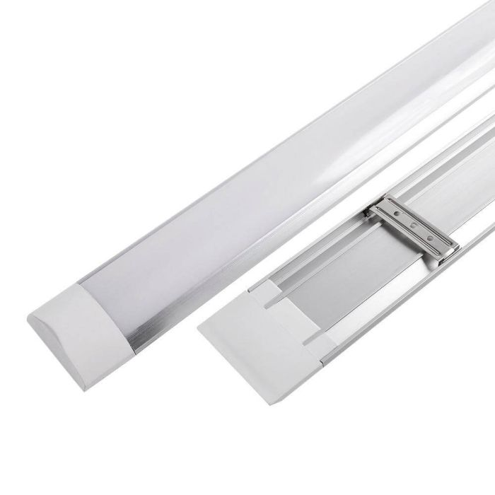 LED Batten Fitting Slimline White IP20 6400K