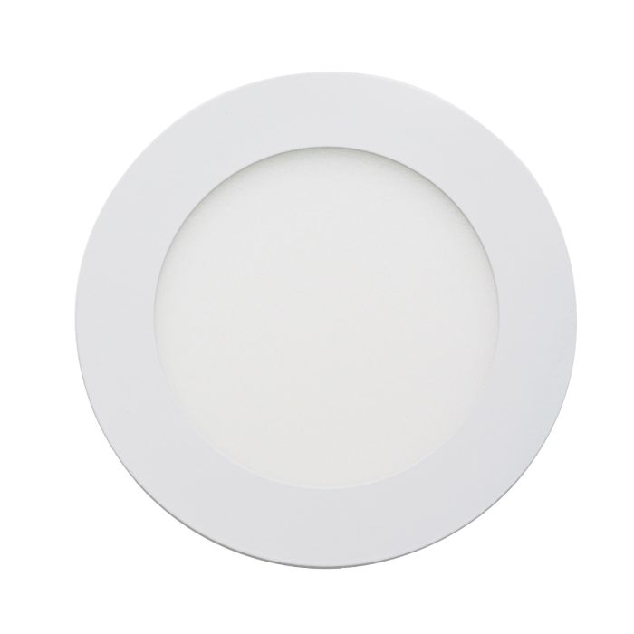 Round LED Recessed Ceiling Panel Lighting White 6 Watt Light