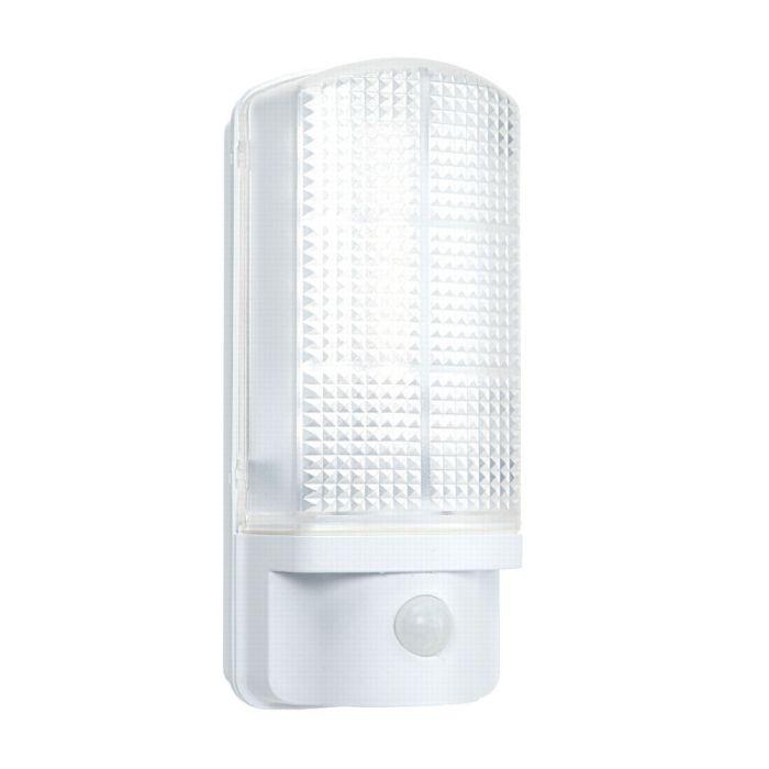 Led 7 Watt White Outdoor Wall Light Integrated Led Pir 4000k Ledbrite Led Lighting Security Products